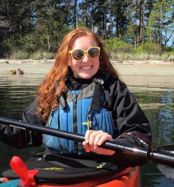 Amber Champion with Blue Dog Kayaking