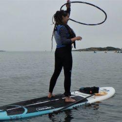 Kaye FaceDandy with Blue Dog Kayaking