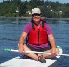 Alison Moorwood with Blue Dog Kayaking