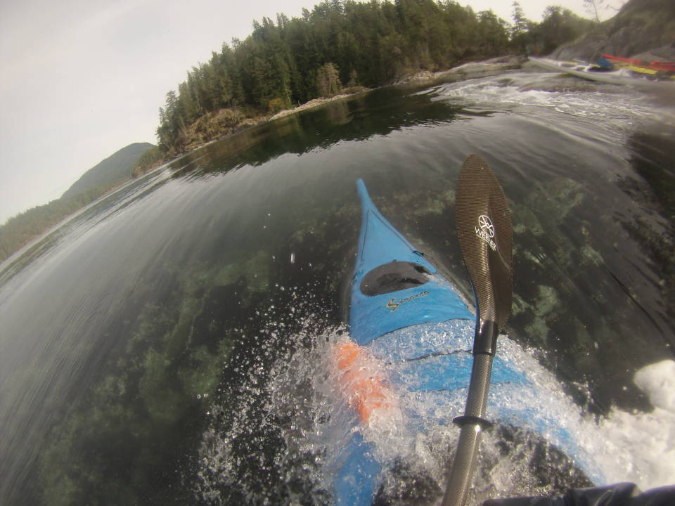 Ryan surfing Surge Narrows